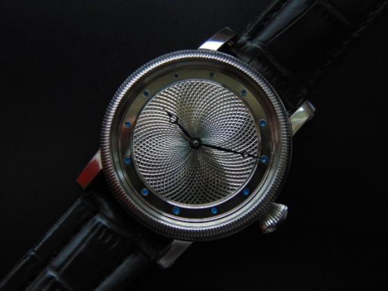 Hand guilloche watch dials. Wykonał Leszek Kralka