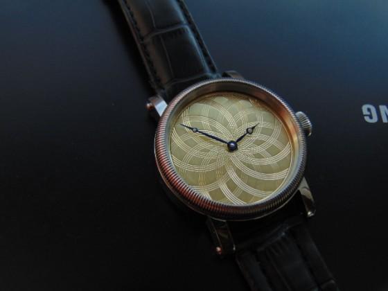 Guilloche dial. Hand made Leszek Kralka