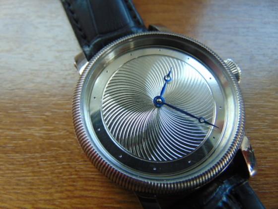 Silver guilloche watch dials. Leszek Kralka.