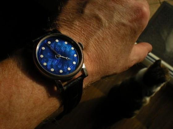 Parnis guilloche enamel blue. Wykonał Leszek Kralka