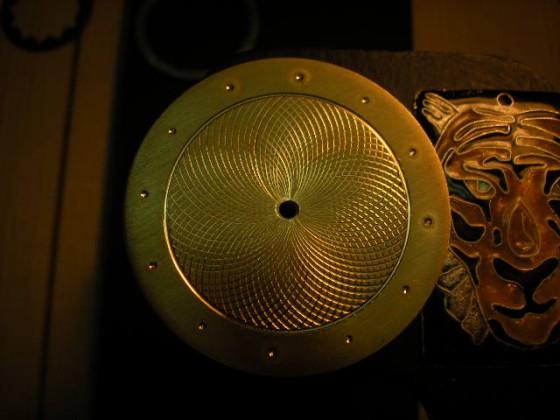 Hand made guilloche watch dial.  Leszek Kralka