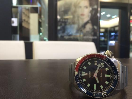 Seiko Diver Pepsi automatic vintage