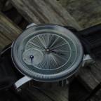 Hand guilloche dial watch.