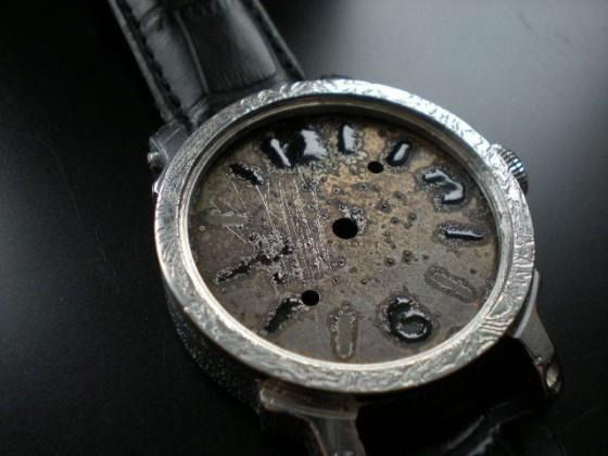 """Future Panerai"" dial watch, enamel grand feu.  Wykonał Leszek Kralka."